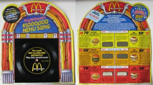Play McDonald's $1,000,000 Menu Song