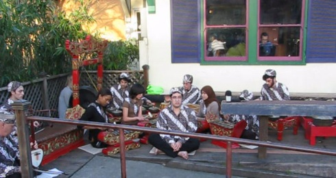 Gamelan on Delta porch