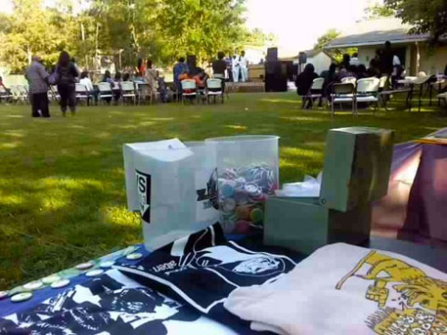 KDVS table at the Gospel on a Dime event