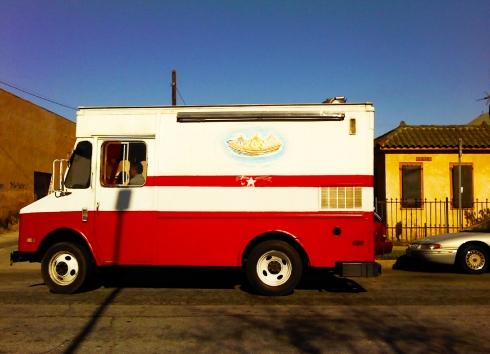 ice cream truck in West Adams neighborhood, Los Angeles