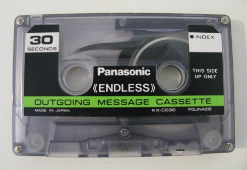 Panasonic 30-second endless outgoing message cassette