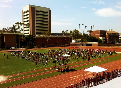 USC marching band practice