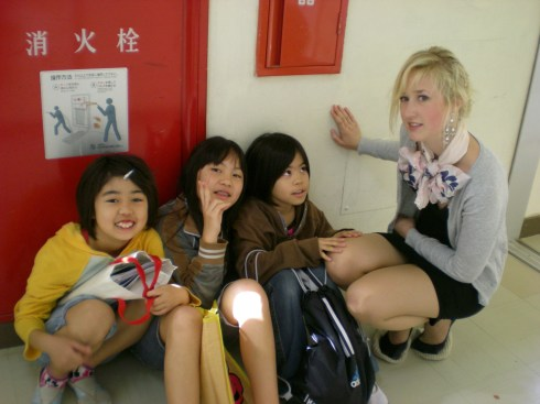 Sigrunn at Nakanishi elementary school