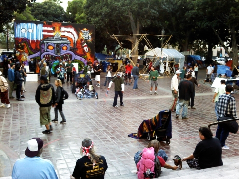 Main square at Occupy LA