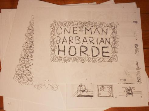 one man barbarian horde drawings