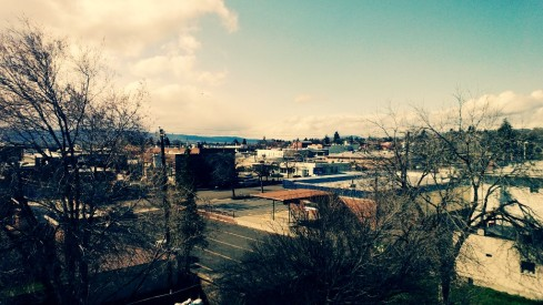 rooftop view of ellensburg, wa
