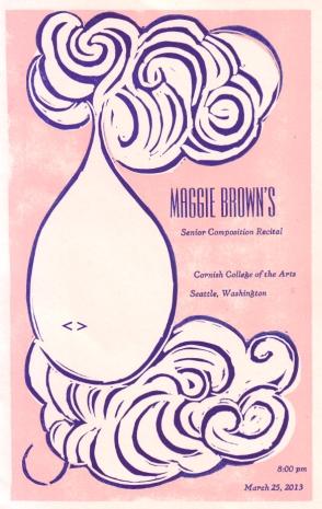 Maggie Brown recital program