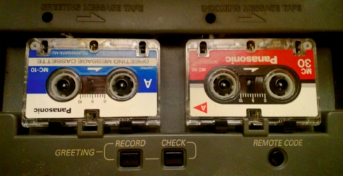 answering machine microcasettes