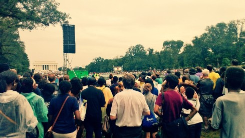 crowd at march on washington 50th anniversary