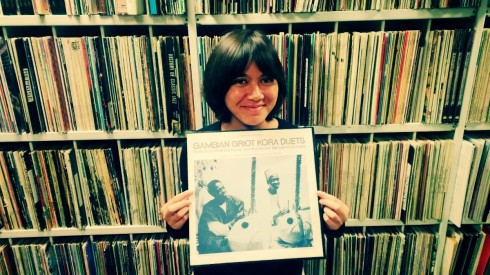 elisa in the folkways stacks