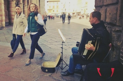Bologna accordion player